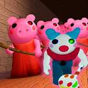 Escape Piggy Roblx's Clowny Granny Obby House icon
