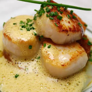 Scallops with Grand Marnier.