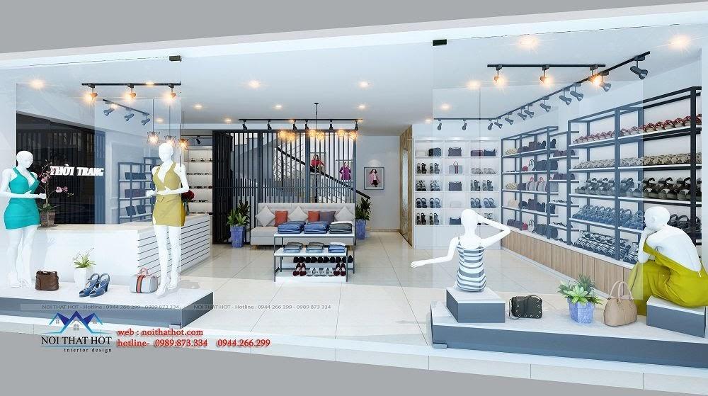 thiết kế shop thời trang thoáng rộng