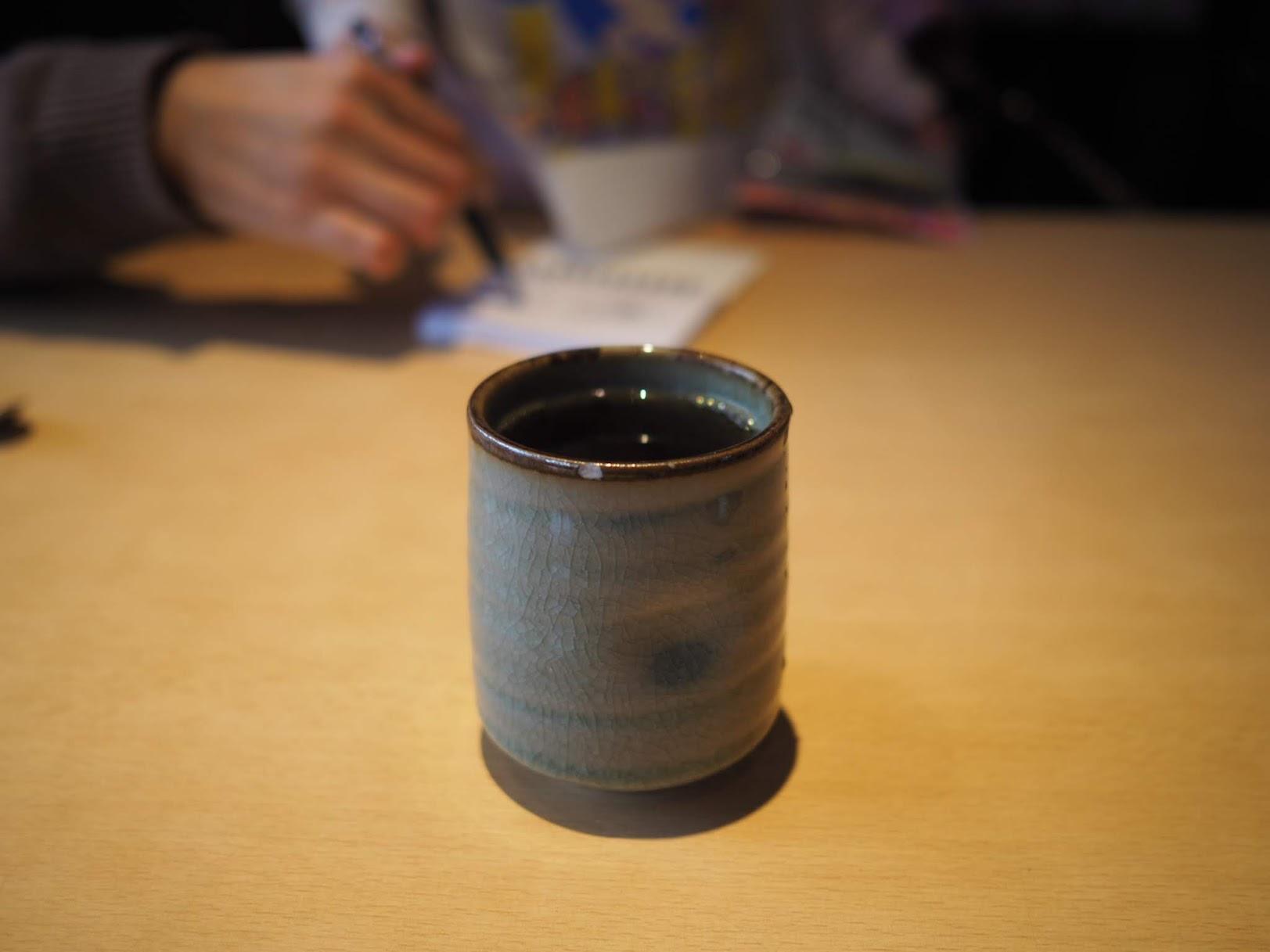 湯呑のお茶