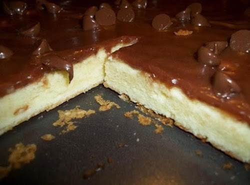 "Click Here for Recipe: Cheese Cake, Sheet Cake ""This sheet cake is..."