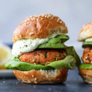 Green Goddess Salmon Burgers.