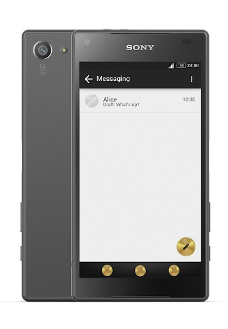 android Gold & Carbon Style Theme Screenshot 2