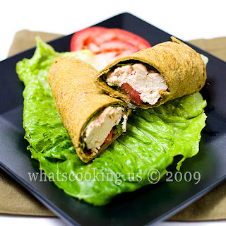 Chipotle Ranch Chicken Wraps