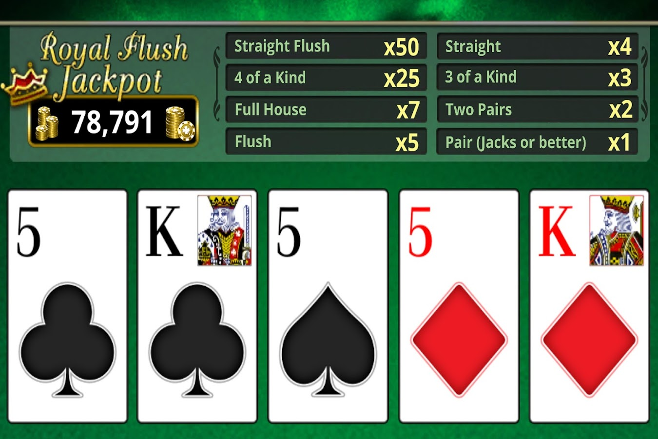 VIDEO POKER!- screenshot