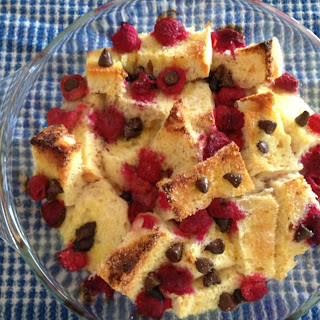 Chocolate Raspberry Bread & Butter Pudding