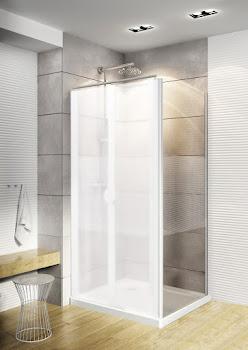 Paroi latérale pour portes de douche battantes, 80 ou 90 cm