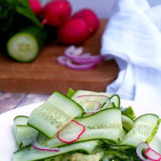 Cucumber Ribbon Salad.