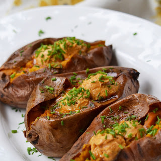 Crockpot Cajun Butter Roasted Sweet Potatoes