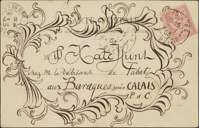 <p> <strong>L&eacute;on Coupey<br /> To Miss Kate Hunt (Baraques)</strong><br /> Ink on card<br /> 3 &frac12;&quot; x 5 &frac12;&quot;<br /> 1903</p> <p> Collection Karim Barbir, Houston<br /> Estate of Marguerite Coupey Barbir, Montreal<br /> Set 3B.7&nbsp;</p>