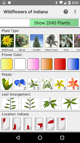 android Indiana Wildflowers Screenshot 0