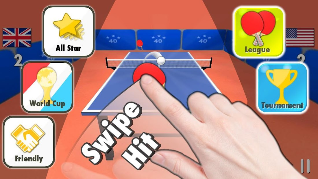 Table Tennis 3D Android App Screenshot