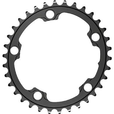 Absolute Black Silver Series Oval 110 BCD Inner Chainring - 5-Bolt