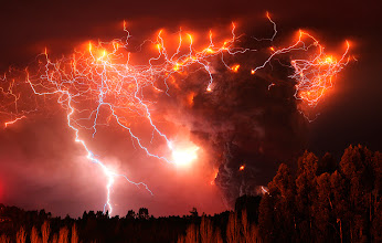 Photo: Lightning strikes over the Puyehue volcano, over 500 miles south of Santiago, Chile, Monday June 6, 2011. Authorities have evacuated about 3,500 people in the nearby area. The volcano was calm on Monday, two days after raining down ash and forcing thousands to flee, although the cloud of soot it had belched out still darkened skies as far away as Argentina. (Francisco Negroni/ AP)  #cloud #storm #supercell #nature #thunderstorm #hailstone #lightning #photo #photography  #photo #photography #News #WeatherNews #Bolt #ChesterCounty #ExtremeWeather #farm #Funnel #JeffBerkes #lightpollution #Lightning #Pennsylvania #rain #severe #Shaft #Storms #Thunderstorm  #funnel #lightningphotography   #stormphotography #weatherphotos   #stormphotography