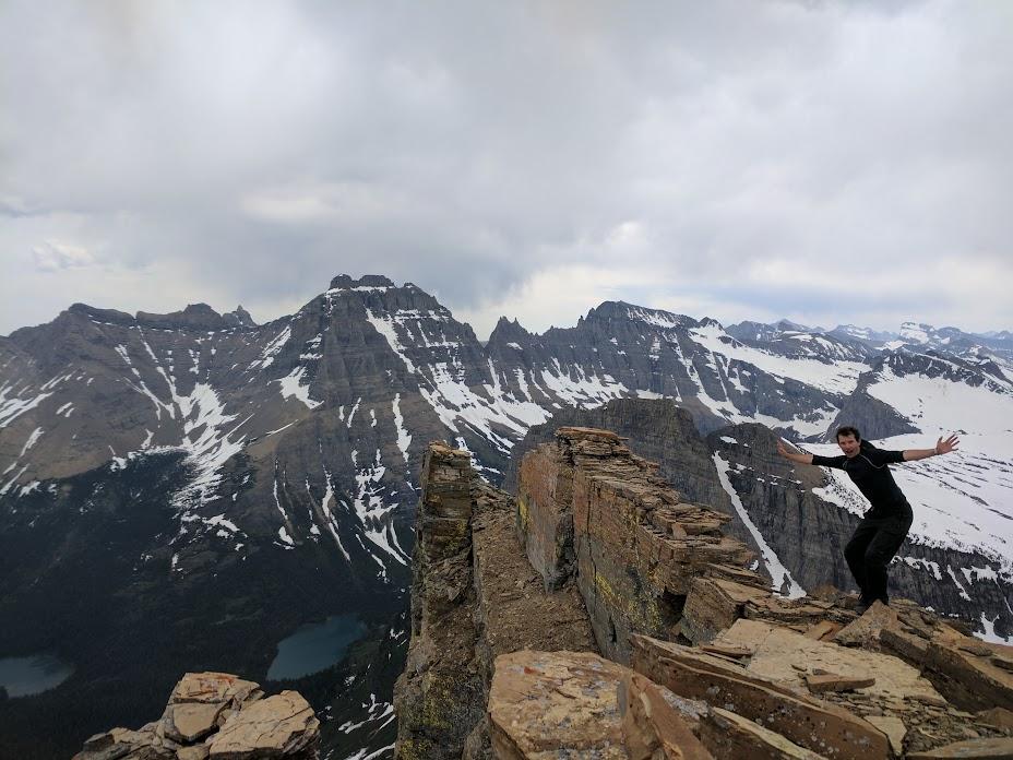 Summit of South Stoney Indian Peaks (8500ft), Glacier Ntl. Park, MT