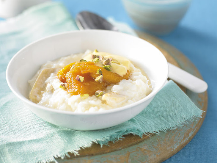 Ginger Rice Pudding with Peach Compote Recipe | Yummly