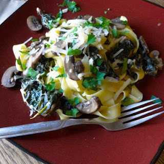 Kale and Mushroom Pappardelle