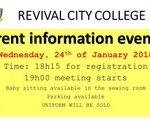 Parent Information Evening : Revival City College