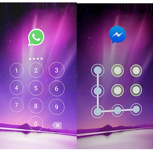 자물쇠 보안 AppLock Aurora 個人化 App LOGO-APP開箱王