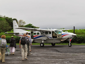 Photo: We traveled from the mountains to the coast on chartered 8 passenger aircraft. Luggage was limited to 25 lbs per person.