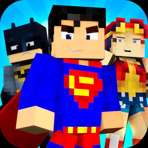 Superheroes Battle On Road