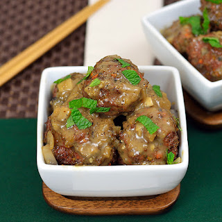 Lamb Meatballs and Mushroom Sauce