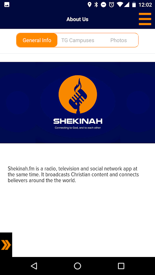 Shekinah App- screenshot