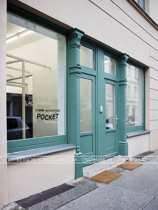 Thiết kế shop thời trang nam black 1