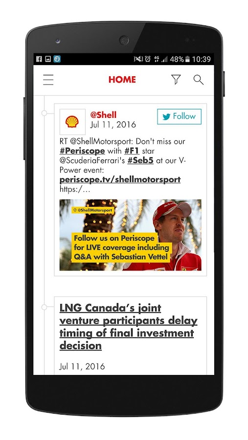 Shell Investor & Media- screenshot