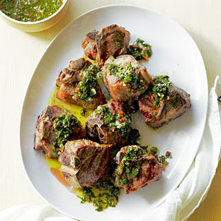 Grilled Lamb with Chocolate Mint Salsa