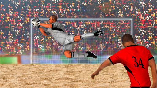Football Beach Soccer Goalkeeper Goaly Soccer Game 1.4 screenshots 1