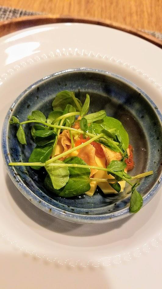 Nodoguro Princess Mononoke Sousaku Course Seven: Egg and Sunchoke Salad