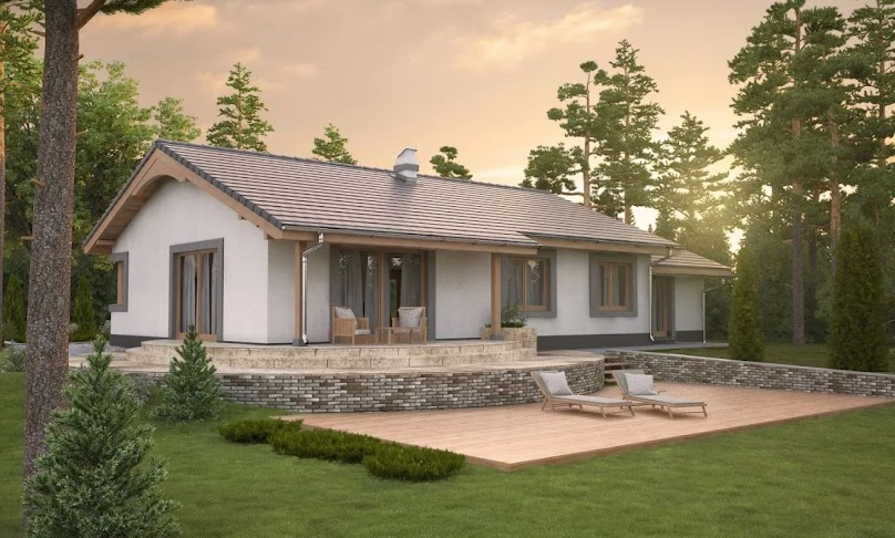 Projekt domu Anulka N z garażem