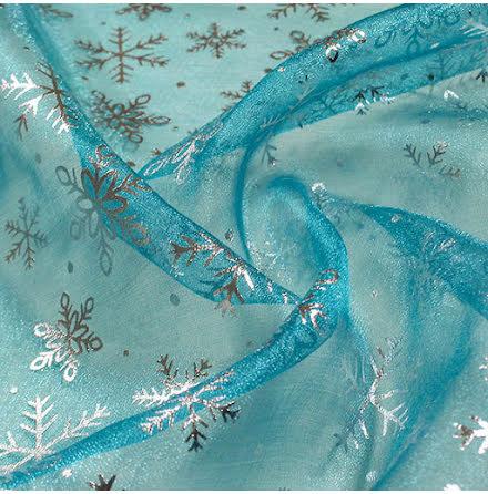 Snöstjärna Kristallorganza - ljusblå
