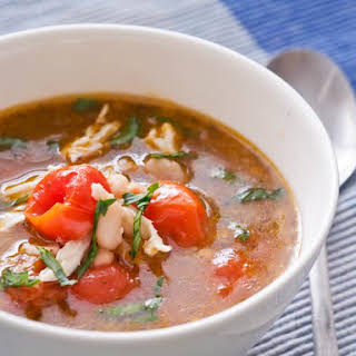 Chicken Soup with Cherry Tomatoes and White Beans {Gluten-Free, Dairy-Free}.