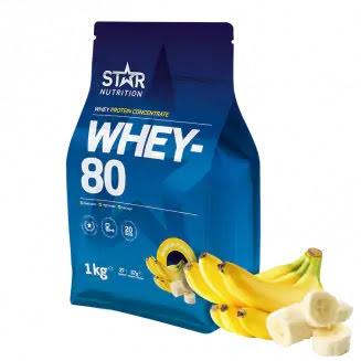 Star Nutrition Whey 80 1kg - Banana