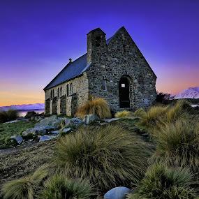 Church of Good Shepherd by Jomy Jose - Buildings & Architecture Places of Worship ( south island, church, astro church, lake tekapo, new zealand, church of good shepherd )