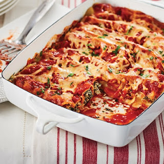 Easy Spinach Ricotta Cannelloni.
