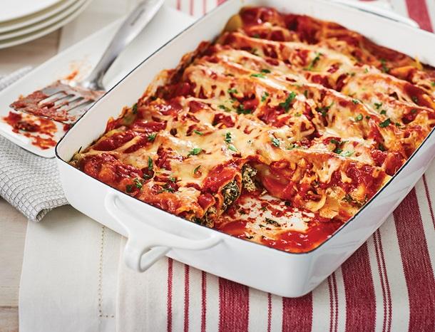 Easy Spinach Ricotta Cannelloni