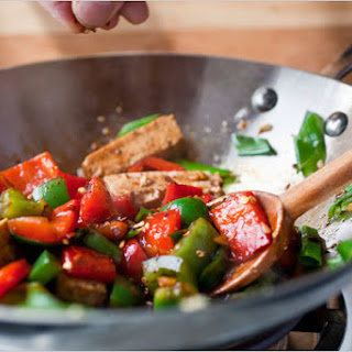 Stir-Fried Tofu and Peppers