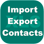 Export Import Excel Contacts Icon
