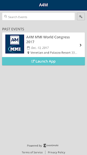 A4M Events App - náhled