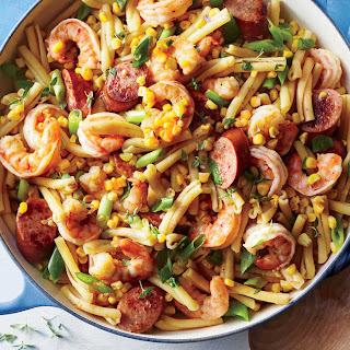 Shrimp Boil Pasta.