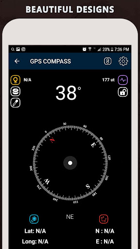 Gyro Compass App for Android Pro & GPS Speedometer screenshot 21