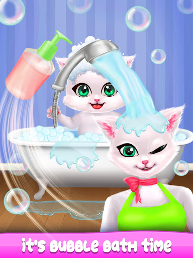 Cat Mom Care Newborn baby cute kitty simulator 1.0 screenshots 3