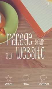 Manage my own Website- screenshot thumbnail