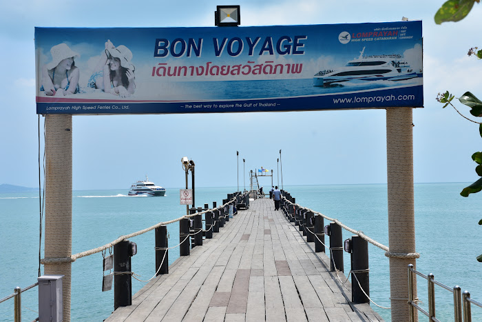 Transfer by ferry and bus