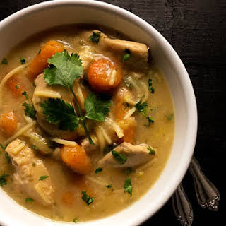 Gluten Free One Pot Chicken Noodle Soup.