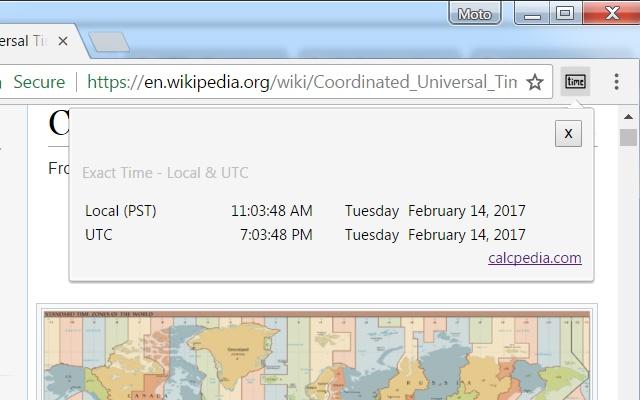 Exact Time - Local & UTC