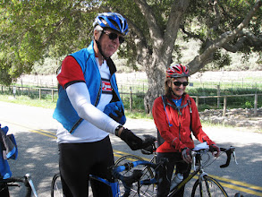 Photo: Dave and Kate relaxing on Zaca Canyon Road